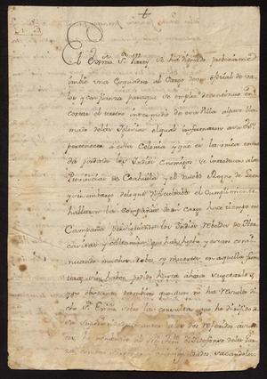 Primary view of [Letter from Vicente González de Santianés to Captain Tomás Sánchez, September, 24, 1775]