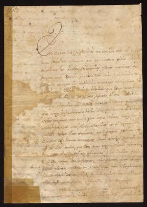 Primary view of [Correspondence between Vicente González de Santianés and Tomás Sánchez de la Barrera]