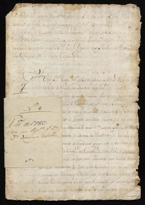 Primary view of [Correspondence Between Domingo Cabello y Robles and Bartolomé Martínez]