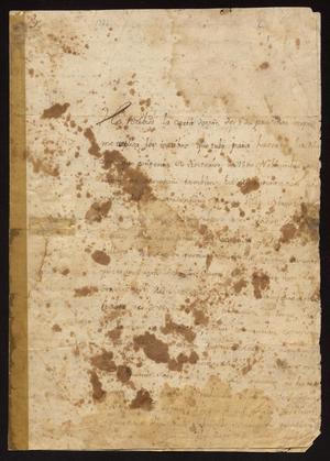 Primary view of [Letter from Vicente de Santianés to Captain Tomás Sánchez, January 22, 1774]