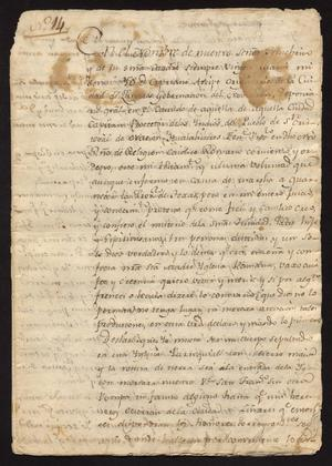 Primary view of object titled '[Last Will and Testament for Cipriano Arispe]'.