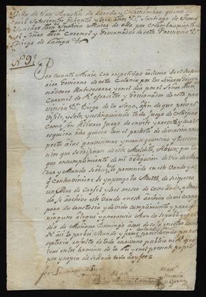 Primary view of [Decree from Santiago de Jesús Sánchez]