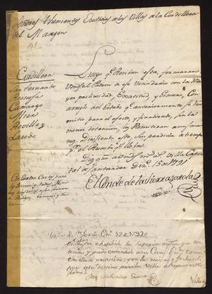 Primary view of [Orders from the Conde de la Sierra Gorda]