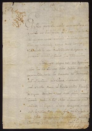 Primary view of [Letter from Vicente de Santianés to Captain Tomás Sánchez, June 18, 1774]