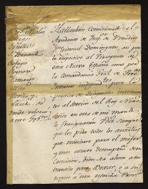 Primary view of [Request from Manuel de Iturbe to Spanish Officials]