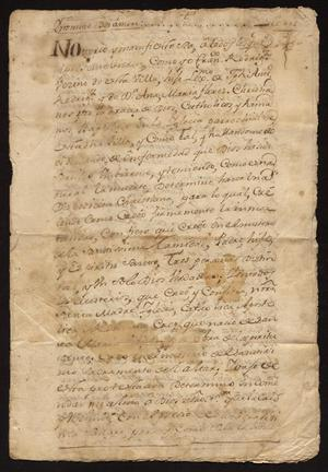 Primary view of [Last Will and Testament of Francisco Rodríguez]