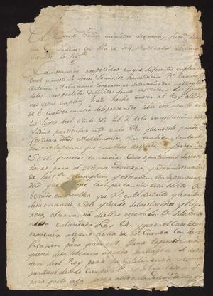 Primary view of [Decree from the Conde la Sierra Gorda]