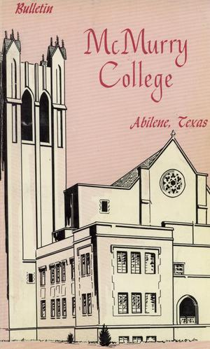 Primary view of object titled 'Bulletin of McMurry College, 1961-1962'.
