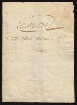 Primary view of [Letter from Juan Fernando de Palacio to José Martínez de Sotomayor, August 31, 1768]
