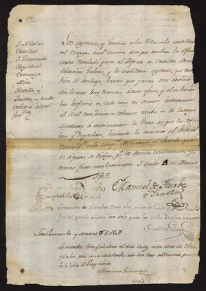 Primary view of [Two Documents from Manuel de Iturbe]