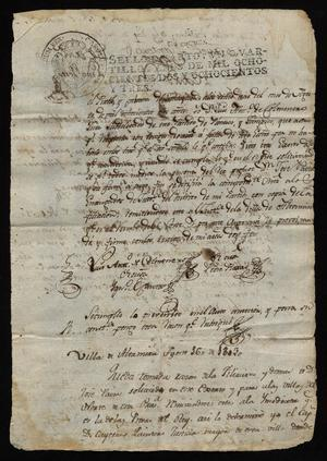 Primary view of [Notice of a Fugitice from Manuel de Flor]