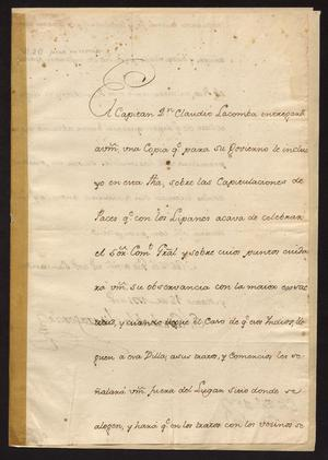 Primary view of [Copy of Agreement with Paces and Lipan Indians]