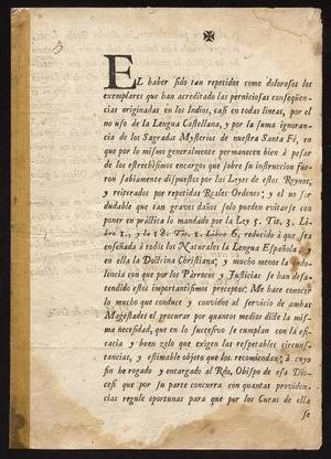 Primary view of [Printed Edict from the Marques de Croix]