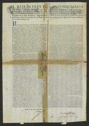 Primary view of [Decree from Viceroy Don Antonio María Bucareli y Ursúa]