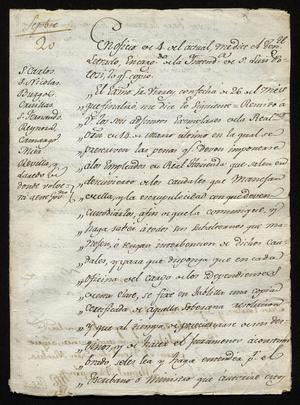 Primary view of [Orders from Viceroy José de Iturrigaray]