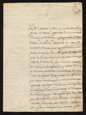 Primary view of [Correspondence between Miguel Ponce Borrego and José María Vidaurre]