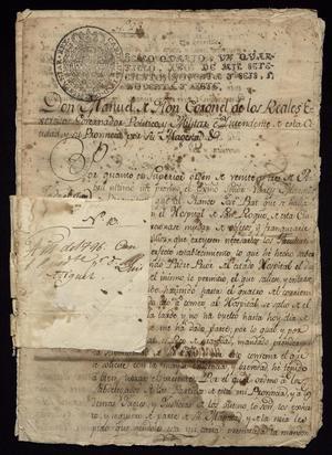 Primary view of [Description of a Criminal by Manuel de Flor]