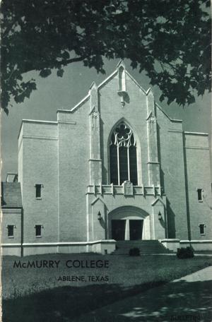 Bulletin of McMurry College, 1963-1964