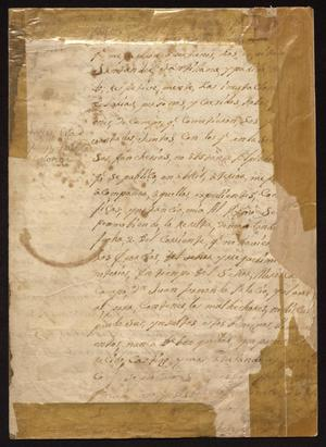Primary view of [Manuscript from Governor Joseph de Rubio to Military Officers]