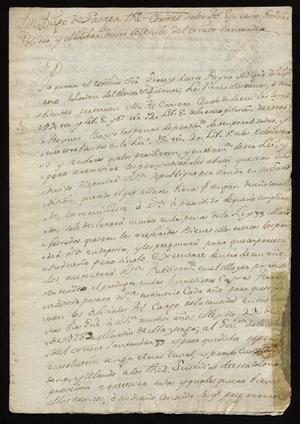 Primary view of [Decree from Don Diego de Lasaga]
