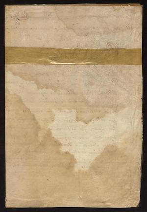 Primary view of [Decree from Francisco de Echeagaray]