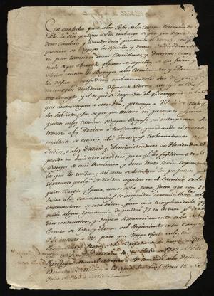 Primary view of [Message from Joaquín Vidal de Larca and Felix Calleja]