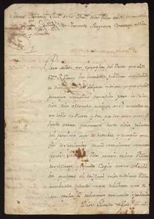 Primary view of [Decree Sent from Governor Vicente González to Spanish Captains]