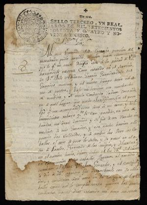 Primary view of [Petition from José Damián Martínez to the Governor]