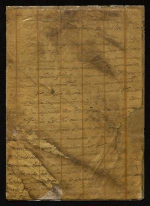 Primary view of [Two Letters to José Ramón Díaz de Bustamente]