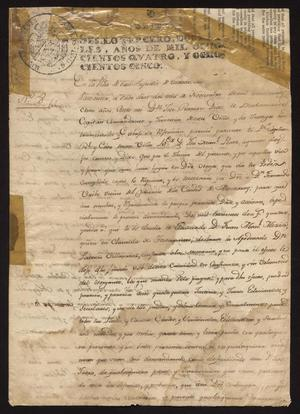 Primary view of [Message from José Ramón Díaz de Bustamente]