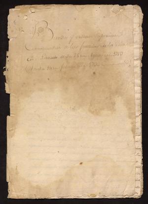 Primary view of [Decrees from Viceroy Manuel Antonio Flores Maldonado]