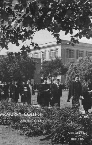 Primary view of object titled 'Bulletin of McMurry College, 1965 summer session'.