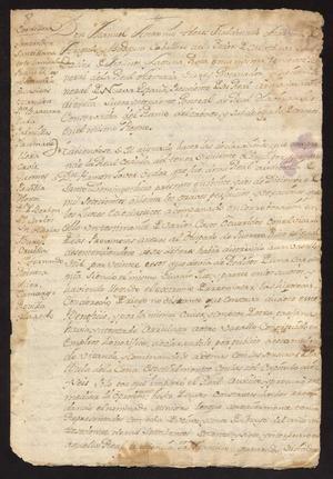 Primary view of [Message from Viceroy Manuel Antonio Flores Maldonado]