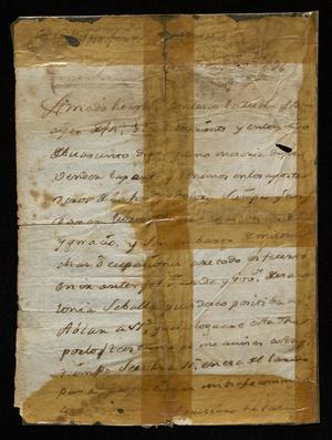Primary view of [Message from José Vazquez Borrego to Fernando Vidaurri Borrego]
