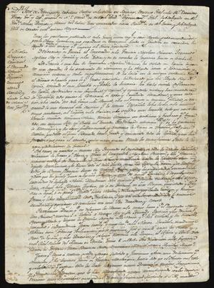 Primary view of object titled '[Message from Viceroy Iturrigaray with a Declaration of War]'.