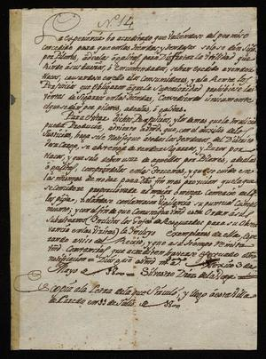 Primary view of [Copy of a Letter from Silvestre Diaz de la Vega to Citizens]