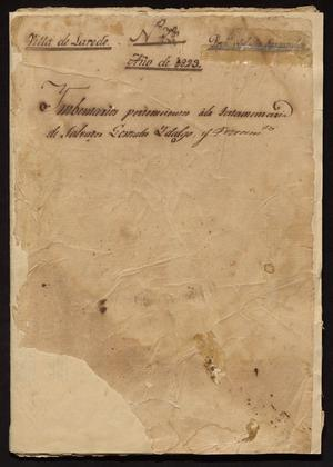 Primary view of [Collection of Documents between Spanish Officials]