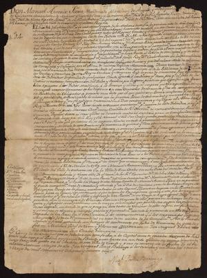 Primary view of [Handwritten Decree on Carlos III's Death]