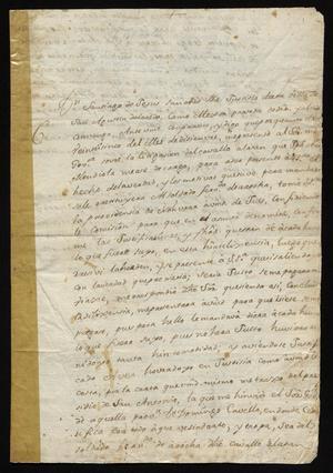 Primary view of [Petition from Santiago de Jesús Sánchez to Antonio Fabián de Puga]