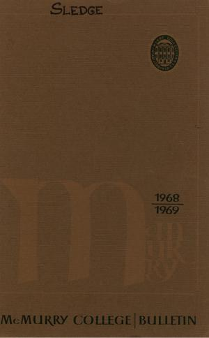 Primary view of object titled 'Bulletin of McMurry College, 1968-1969'.