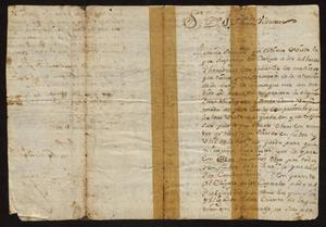 Primary view of object titled '[Letter from Fernando Vazquez Borrego to Joseph Leonardo Vidaurre, March 15, 1778]'.