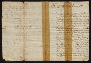 Primary view of [Letter from Fernando Vazquez Borrego to Joseph Leonardo Vidaurre, March 15, 1778]