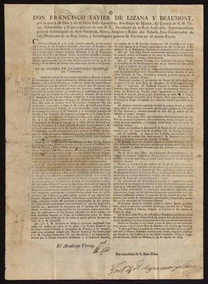 Primary view of [Documents from Viceroy de Lizana and Joaquín Vidal]