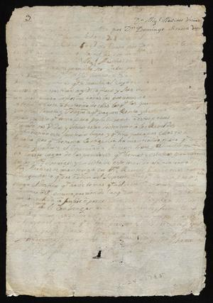 Primary view of [Judgement by Santiago de Jesús Sánchez Regarding Miguel Martínez]