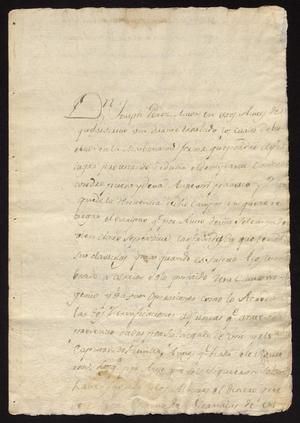 Primary view of [Correspondence Between Joseph Pérez and Tomás Sánchez]