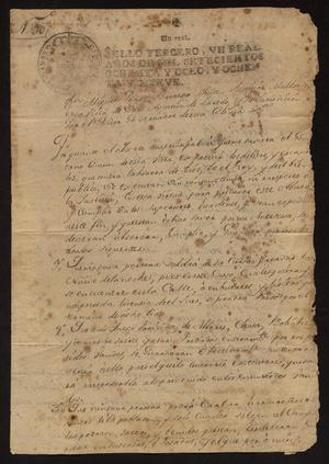 Primary view of [Ordinances from Miguel Ponce Borrego]