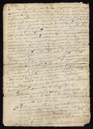 Primary view of object titled '[Last Will and Testament for José María Benavides]'.
