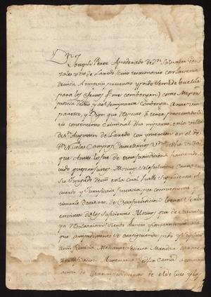 Primary view of [Requests from Joseph Pérez and Cristóbal Báez Benavides]