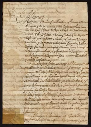Primary view of [Correspondence from Francisco Sales Carrillo to the Justicia Mayor]