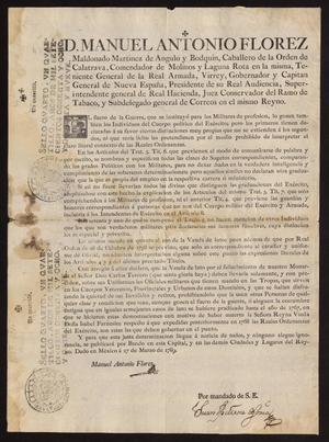 Primary view of [Printed Decree from Viceroy Maldonado]